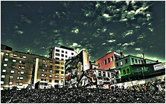 Downtown Oslo Skyline (tim constable) Tags: city blue sky urban streetart beauty oslo norway skyline graffiti living construction mural gallery apartments view bright outdoor capital norwegian commercial vandalism cheerful renovation scape residential buildingsite bohemian offices scandinavian rubble optimistic timconstable