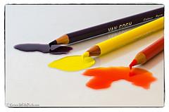 melting pencils (sure2talk) Tags: orange yellow purple liquid colouredpencils tpopenhouse nikkor50mmf14gafs nikond7000 thepinnaclehof meltingpencils tphofweek277 tp9102014