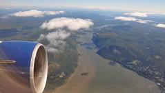 Flying across the Hudson River (sfPhotocraft) Tags: travel usa ny newyork river flying hudsonriver hudson newyorkstate 2014 throughaplaneswindow