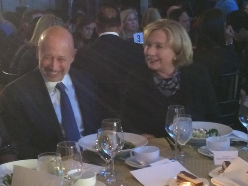 Hillary  with Goldman Sachs CEO Blankfein