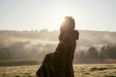 64/365 (ebony tippett) Tags: light portrait sun mist girl fog sunrise canon landscape flare 24105mm 5dmarkii