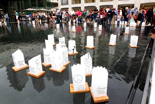 Shinnyo Lantern Floating for Peace 2014