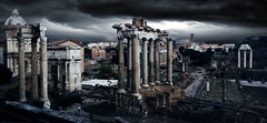 imperial Rome (cipo_67) Tags: fori imperiali imperial forums darkness nero temporale nuvole city citt colonne monuments street history storia