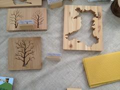 Oak and Western Red Cedar sihouette Craft