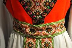 Norwegian Stitching (sfPhotocraft) Tags: oslo norway belt needlepoint vest stiches 2014 norwegianclothing