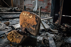 The Chair (robvaughnphoto.com) Tags: ohio abandoned fire chair decay grunge cleveland dirty burn ux urbex rjvtog