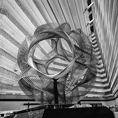 HYATT Embarcadero SF (Genghis 72) Tags: california sculpture white black 120 6x6 film lines architecture composition port lights hotel san long exposure geometry lounge perspective iso hasselblad embarcadero hyatt medium format inside 100 analogue regency fransisco argentique archi