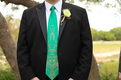 Groomsmen's outfit (beer tie and paper flower boutonniere) (jessica.hanrahan) Tags: wedding green nerd beer austin spring texas outdoor mint tie weddingparty hillcountry groomsmen bridalparty nerdy texaswedding boutonniere outdoorwedding springwedding offbeatbride austinwedding partyphotoshoot nerdwedding hillcountrywedding mintwedding