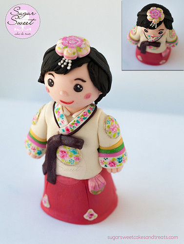 Hanbok Dol Cake Topper