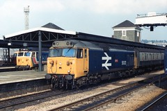 """50021 """"Rodney"""" (Sparegang) Tags: 50021 class50 englishelectric hoover plymouth englishelectrictype4 britishrail westernregion largelogolivery"""