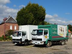 MERCEDES LK 814 et 1314 (xavnco2) Tags: france beer truck mercedes lorry camion mercedesbenz delivery bier lk bire picardie boissons lkw 814 autocarro porteur 1314 livraison brasseur