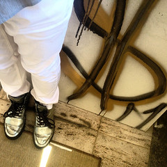 White Pants / Silver Creative Recreation Boots / Dollar Sign - West Hollywood, CA (ChrisGoldNY) Tags: california street usa white art fashion cali america silver graffiti la losangeles forsale pants boots style socal squareformat dollar albumcover bookcover bookcovers albumcovers consumerist licensing laist dollarsigns creativerecreation instagram chrisgoldny chrisgoldberg chrisgoldphoto chrisgoldphotos