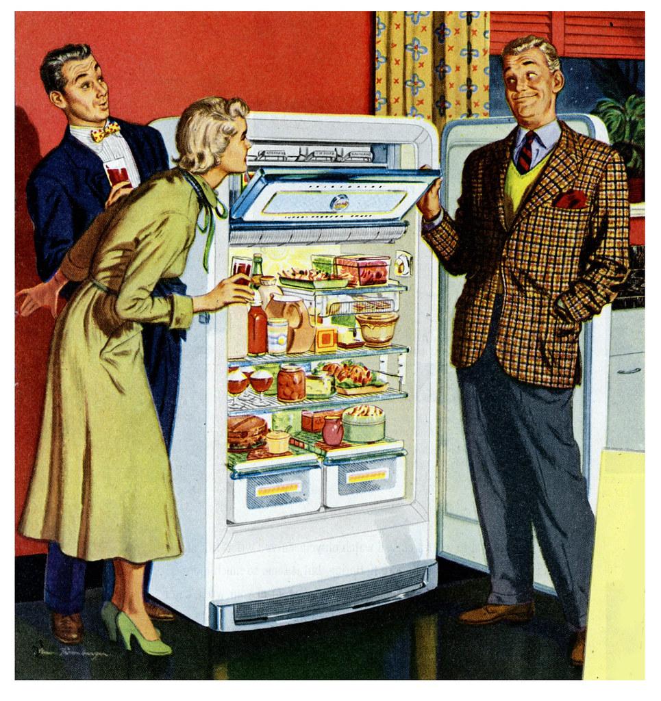 Image result for vintage ads for refrigerators