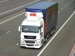 DA13 DJU (Cammies Transport Photography) Tags: man truck lorry flyover bibby distribution m74 lockerbie tgx da13dju