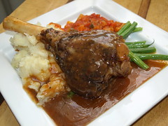 Lamb Shank, Ratatouille, Creamed mash, Green Beans (Tony Worrall) Tags: uk england food make menu yummy nice dish photos tag cook tasty plate eaten things images x made eat foodporn add meal lamb greenbeans taste dishes cooked tasted grub iatethis foodie flavour ratatouille shank lambshank plated foodpictures ingrediants picturesoffood photograff foodophile 2014tonyworrall creamedmash