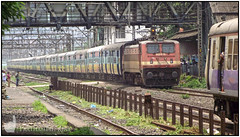 ET WAP-4 meets Mumbai Local! (Prathamography by Prathamesh Kini) Tags: india train locomotive mumbai railways indianrailways irfca