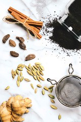 Masala Chai | A Brown Table (abrowntable) Tags: food hot ginger warm tea cinnamon indian spices drinks darjeeling chai indianfood cardamom blacktea foodphotography darjeelingtea foodstyling abrowntable
