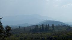 Layers (Padmacara) Tags: california trees hills gradation g11 lassennationalpark