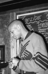 Zanzibar Blue Jazz Club Philadelphia Bar Tender B&W Feb 1994 301 Darryl (photographer695) Tags: blue bw philadelphia bar club jazz zanzibar 1994 feb tender