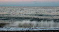 160 Newcastle 160714 wide (Philip D Ryan) Tags: ireland twilight surf wave eveninglight breakingwave newcastlebeach irishsea countywicklow shinglebeach