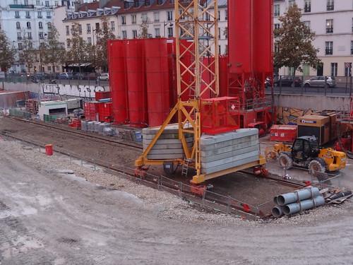 Chantier de couverture des voies de la Gare de Paris Austerlitz
