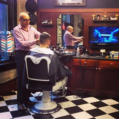 Rainy days and Mondays never get us down.....Every day at the barber shop is a great day!  #barbershopmondays #barberlife (HappyBarbers) Tags: square squareformat mayfair iphoneography instagramapp uploaded:by=instagram foursquare:venue=4af867c8f964a520ee0c22e3