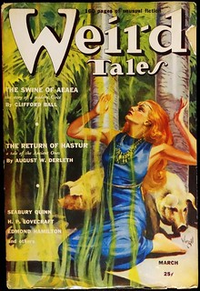 Weird Tales Vol. 33, No. 3 (March, 1939). Cover Art by Virgil Finlay