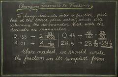 5th Grade: Math; Fractions: changing a decimal number into a fraction (ArneKaiser) Tags: 5thgrade 5thgradefarewell autoimport edited mrkaisersclass pineforestschool waldorf waldorfjourney chalk chalkboard math