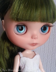 OOAK Hand-Painted Eye Chips for Blythe Doll - Sparkling Ocean Blues by Oly in Wonderland