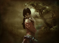Romani Girl (maom_1 (Off, most of the time)) Tags: photomanipulation fineart digitalpainting digitalcollage