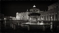 Roman walks... (sermatimati) Tags: rome roma nikon ombre cupola luci michelangelo fontana bernini sera buio magia piazzasanpietro fascino cittdelvaticano sermatimati