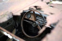 Lenker (5) (Bettina.Gerstb.) Tags: scrapyard cars rust motorcycles vintagecars schrottplatz oldtimer rost motorrad autos