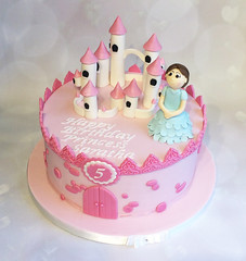 Mini Princess Castle Cake