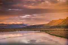 Colors of sunset (Sizun Eye) Tags: landeyjahöfn iceland river colors sunset reflections mountain sky clouds light landscape paysage beautyinnature beautiful sizuneye nikond750 nikon d750 tamron2470mmf28 tamron 2470mm gettyimages