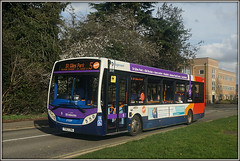 37039, Duston (Jason 87030) Tags: e200 purple route 5 stgilespark mainroad duston northampton bus enviro northants march 2017 sony a6000 ilce nex alpha roadside weekend transport yx63zwg 37039 midlands stagecoach