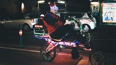 Disco Bicycle (edi_s) Tags: vienna street city urban bike bicycle bikeway neon lights color rolling display loud music wien fahrrad radweg licht night nacht fuji fujifilm xt2 fujifilm23mmf14 light cool crazy people crazypeople