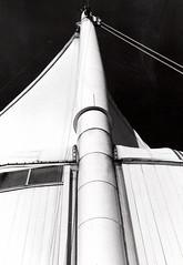 Canada Place 2, Vancouver (FTonyC) Tags: blackandwhite monochrome film 35mm minoltadynax505si ilfordhp5 retro darkroom chemistry analogue canadaplace vancouver canada architecture deco ship sails