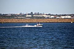 2017 Sydney: Botany Bay #18 (dominotic) Tags: sydney nsw australia newsouthwales 2017 botanybay beach brightonlesands portbotany ladyrobinsonsbeach boat