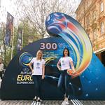 Hostese na dogodku Odkritje odštevalnika do UEFA Futsal EURO 2018 v središču Ljubljane.  www.futsal.si www.nzs.si www.sportmediafocus.com www.agencija22.si