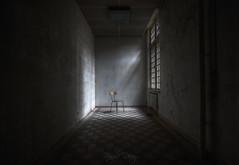 Clear your mind (Fragile Decay) Tags: chair light asylum sanatorium hospital abandonded forbidden forgotten empty lost urban exploring sony fragiledecay