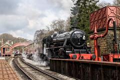 LMS Stanier Class 5MT (chaz jackson) Tags: goathland yorkshire uk lmsstanierclass5mt stanier black5 5mt nymr rail train steam locomotive