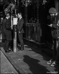 Drinking & Smoking (zolaczakl) Tags: mono monochrome photographybyjeremyfennell london people boroughmarket fujix100s uk streetscenes april 2017 blackwhite england