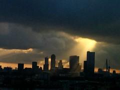Shaft (Joey Johannsen) Tags: kopvanzuid south cityscape rotterdam overcast light shaft