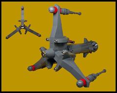 Panatella class light cruiser (Karf Oohlu) Tags: lego moc microscale microspacetopia scifi spaceship spacecruiser