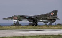 MIG-27 05 GROSSENHAIN 180892 CLOFTING P (Chris Lofting) Tags: mig27 mig23 295abip 05 grossenhain russianairforce 16thairarmy flogger