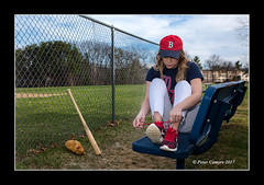 Put Me In Coach (Peter Camyre) Tags: red sox baseball player tie ties shoes glove bat female boston peter camyre photography canon 5d mkiii