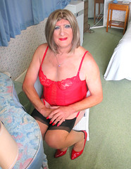 Maxredsmlls-003 (fionaxxcd) Tags: cd tg ts ladyboy drag femmeboi mtf m2f transvestite tranny trannie crossdresser crossdressing xdresser xdressing stilettoes stockings suspendersrednails redbra bust thighs