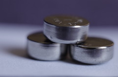 Coin Cells.. (J a n W i l l e m) Tags: hmm macro mondays metal coin cell battery batteries tiny lr44 button pentax panagor kx 55mm 28
