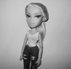 "Fierce Awakening (Mini-Challenge) - ""Polaroid"" - Morgan Angelic (Bratzjaderox™) Tags: bw polaroid polished fierce fabulous diva doll bratz mga girl ooak cloe slumber party sweet dreams natural"