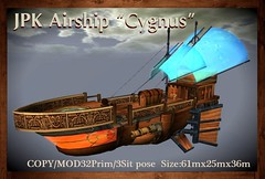 "**JPK Airship ""Cygnus"" (hekirekika2017) Tags: steampunk airship secondlife pirates jpk"